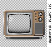 vector retro television mock up ... | Shutterstock .eps vector #1012974160