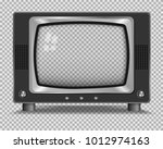 vector retro television mock up ... | Shutterstock .eps vector #1012974163
