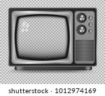 vector retro television mock up ... | Shutterstock .eps vector #1012974169