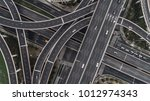 aerial view of highway and... | Shutterstock . vector #1012974343