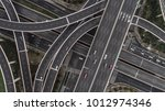 aerial view of highway and... | Shutterstock . vector #1012974346
