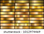 set of realistic gold gradients.... | Shutterstock .eps vector #1012974469