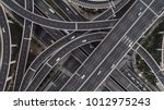 Aerial view of highway and...