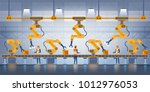 smart factory. industry 4.0 and ... | Shutterstock .eps vector #1012976053