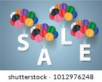 sale mobile hanging on sky ...   Shutterstock .eps vector #1012976248