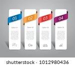 infographic template. vector... | Shutterstock .eps vector #1012980436