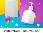 vector 3d realistic abstract... | Shutterstock .eps vector #1012980520