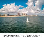 The Lone Sailboat On A...