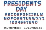 grunge font with american flag  ... | Shutterstock .eps vector #1012980868
