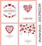 happy valentine's day. i love... | Shutterstock .eps vector #1012982239
