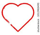set of hearts . grunge stamps... | Shutterstock .eps vector #1012983490