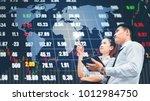 asian business people meeting...   Shutterstock . vector #1012984750