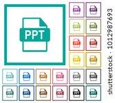 ppt file format flat color... | Shutterstock .eps vector #1012987693