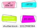 banner flat design isolated on...   Shutterstock .eps vector #1012988584