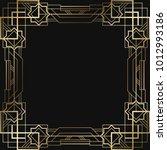 vintage retro style invitation  ... | Shutterstock .eps vector #1012993186