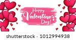 valentines day sale horizontal... | Shutterstock .eps vector #1012994938