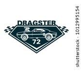 retro and classic drag car logo ...
