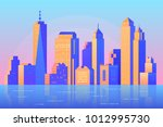 skyscraper and modern tall... | Shutterstock .eps vector #1012995730