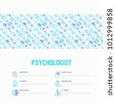 psychologist concept with thin...   Shutterstock .eps vector #1012999858