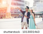 hipster young with bright... | Shutterstock . vector #1013001463