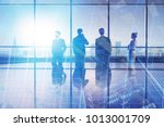 meeting and research concept.... | Shutterstock . vector #1013001709