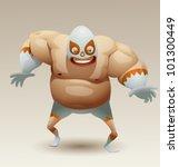 vector mexican wrestler 3 | Shutterstock .eps vector #101300449