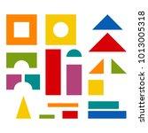 bright colorful wooden blocks... | Shutterstock . vector #1013005318