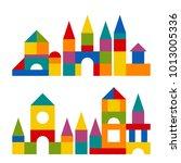 bright colorful wooden blocks... | Shutterstock . vector #1013005336