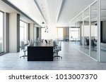 modern meeting room with city... | Shutterstock . vector #1013007370