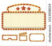 theater glowing retro cinema... | Shutterstock .eps vector #1013008024