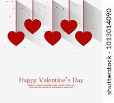 valentine's day vector... | Shutterstock .eps vector #1013014090