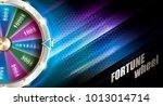 wheel of fortune gambling... | Shutterstock .eps vector #1013014714