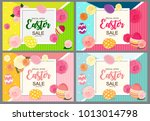 happy easter cute background... | Shutterstock .eps vector #1013014798