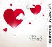 valentine's day vector... | Shutterstock .eps vector #1013014894