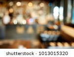 blur coffee shop or cafe... | Shutterstock . vector #1013015320