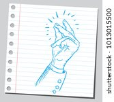 finger snapping  sketch style  | Shutterstock .eps vector #1013015500
