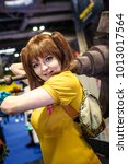 Small photo of Birmingham, UK - November 19, 2017: Cosplayer dressed as Diane from the manga and anime The Seven Deadly Sins at Birmingham MCM Comic Con.