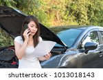young asia woman sitting in... | Shutterstock . vector #1013018143