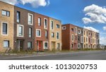 modern social housing under... | Shutterstock . vector #1013020753