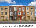 four modern social housing in... | Shutterstock . vector #1013020756