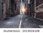 modern city side street. mixed... | Shutterstock . vector #1013026108