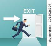 Businessman Runs Into Open Door....
