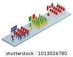 the opening ceremony concept.... | Shutterstock .eps vector #1013026780