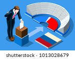 russia election voting concept... | Shutterstock .eps vector #1013028679