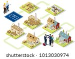 wood construction buildings and ... | Shutterstock .eps vector #1013030974