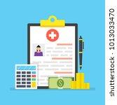 medical insurance  medical care ... | Shutterstock .eps vector #1013033470