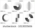 set 6 universal halftone... | Shutterstock .eps vector #1013035606