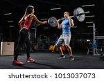 sport  fitness  teamwork and... | Shutterstock . vector #1013037073