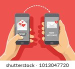 sending love message concept.... | Shutterstock .eps vector #1013047720