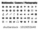 multimedia  camera and... | Shutterstock .eps vector #1013052640